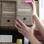guardando caja